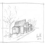 Ecologische huizen in Zaanse stijl